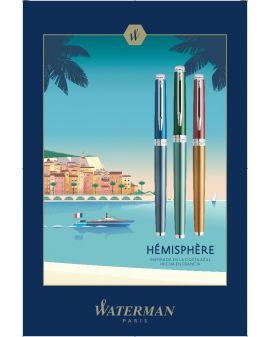 Długopis Hemisphere Delux Marine Blue CT - 5