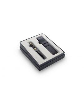 Zestaw podarunkowy: Pióro wieczne Sonnet Black GT + etui - 1