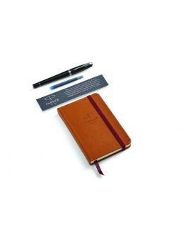 Zestaw Pióro wieczne Parker Urban Premium Ebony Metal CT z Notesem - 1