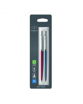 1 Długopis JOTTER KENSINGTON RED CT (wkład niebieski)  1 Długopis ŻELOWY JOTTER ROYAL BLUE CT - 2