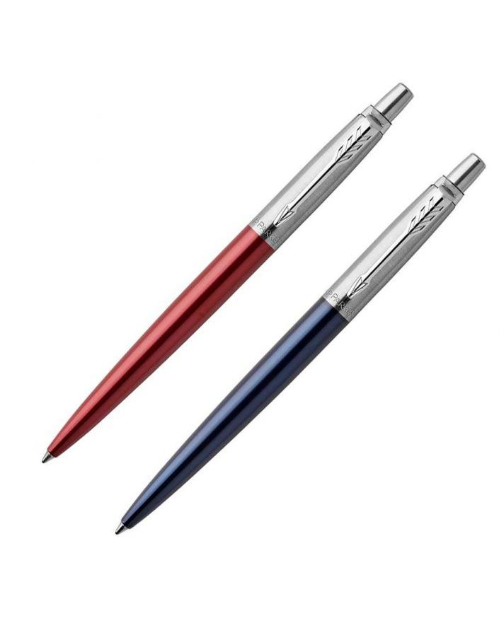 1 Długopis JOTTER KENSINGTON RED CT (wkład niebieski)  1 Długopis ŻELOWY JOTTER ROYAL BLUE CT - 1
